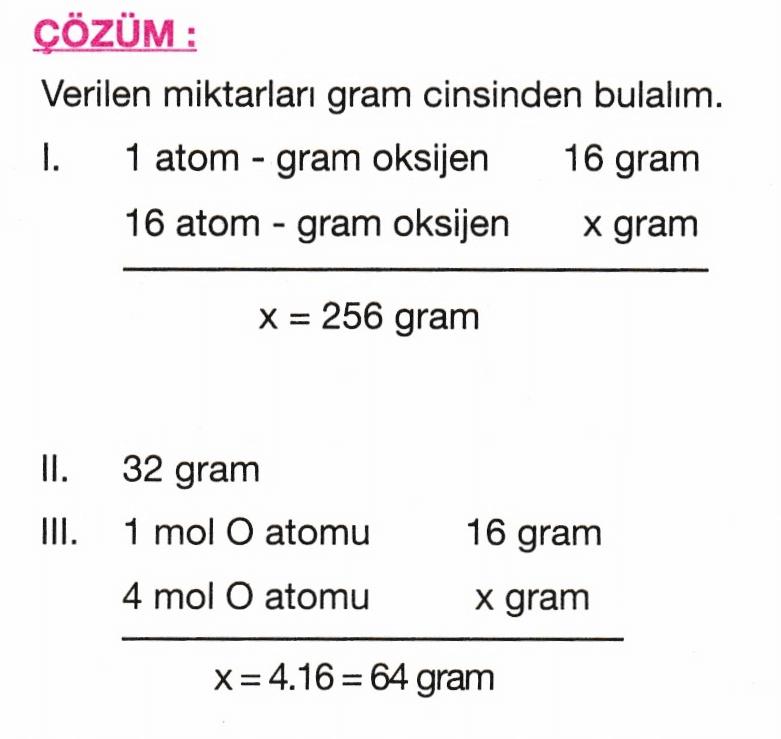 mol soru 1 çözüm